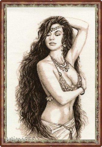 Картина панно рисунок Вышивка крестом Шакира Нитки фото 1.