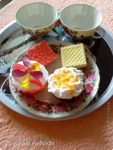 Еще диетические пирожные и печенюшки.Масло шиповника, кокоса и аромат пломбира,кофе,клубники со сливками. фото 1