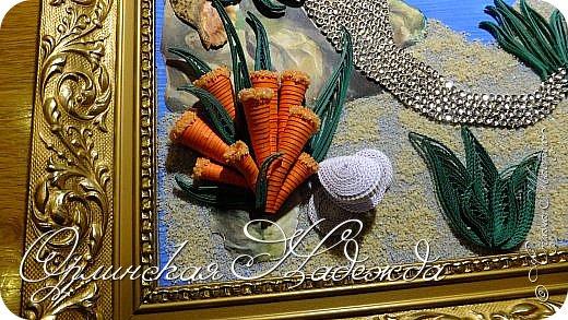 """Добрый вечер, уважаемые жители Страны Мастеров!  Выставляю на Ваш суд очередную работу.  Благодарю Мастеров у которых могла посмотреть и поучиться: Лизу ( azil ) - волосы """" Голубого Ангела """",  Татьяну ( Saphir ) - """" Золотая рыбка """",  Ольгу Ольшак - жемчужина и красные кораллы,  Елену ( Дама-кусудама ) - морские водоросли и губки.     Рыбка, рыбка помоги, золотая сделай милость...  Загадывайте желания!!! фото 6"""
