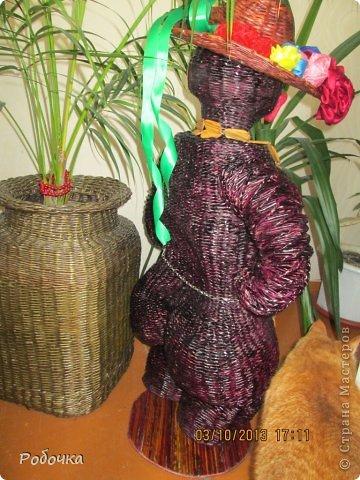 Здравствуй, страна мастеров! Вот такая ваза у меня сплелась или мини скульптура, вообще планировалась в полный рост, но получилась вот такой. фото 3