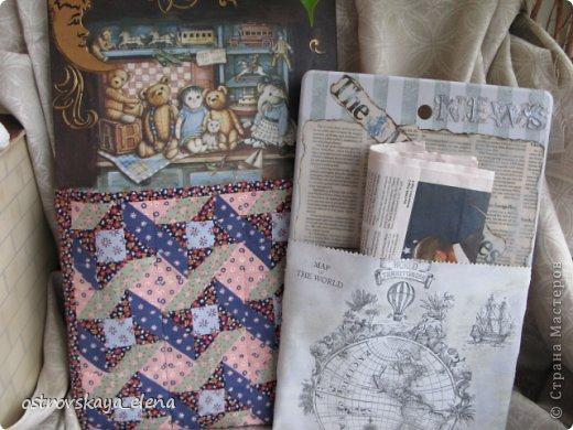 """На мой взгляд, весьма нужные вещи для дома, где живут маленькие детки и взрослые любители чтения в """"уединенных"""" местах. Решила пошагово показать как я делала пижамницу и газетницу."""