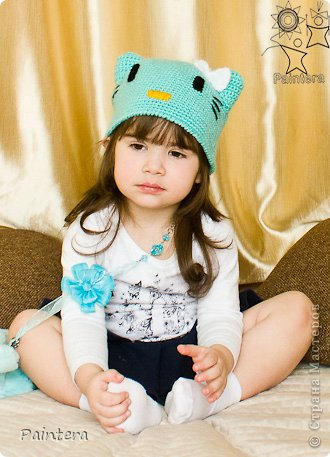 Мастер-класс Вязание Моя шапочка Кити схемы+описание Нитки фото 1.