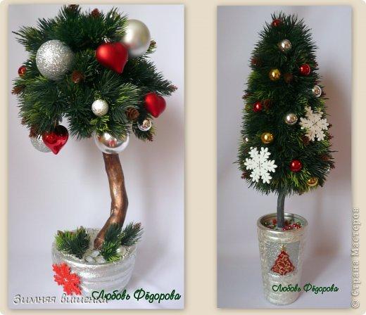 Бонсай топиарий Новый год Рождество Моделирование конструирование Новогоднее - елочка и бонсай Гипс Клей фото 1