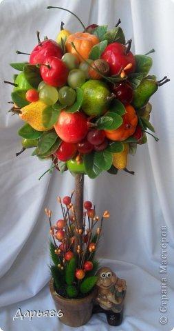 Фруктовый топиарий своими руками из фруктов