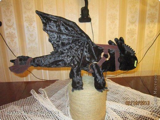 Попросили меня сшить дракона Беззубика для девочки семи лет, дело для меня новое ( игрушки я не шила), пересмотрела в интернете всё, что смогла найти и приступила к делу. фото 3