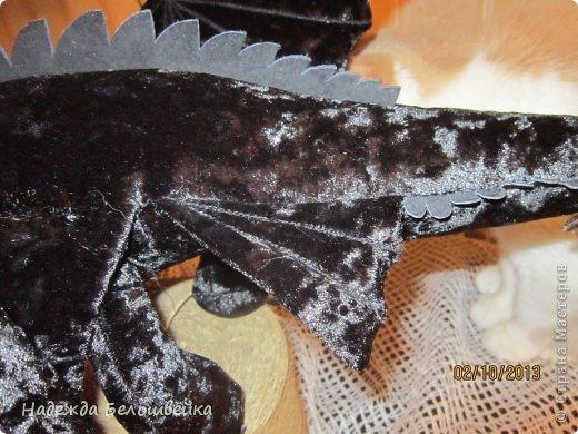 Попросили меня сшить дракона Беззубика для девочки семи лет, дело для меня новое ( игрушки я не шила), пересмотрела в интернете всё, что смогла найти и приступила к делу. фото 8