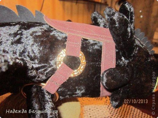 Попросили меня сшить дракона Беззубика для девочки семи лет, дело для меня новое ( игрушки я не шила), пересмотрела в интернете всё, что смогла найти и приступила к делу. фото 14