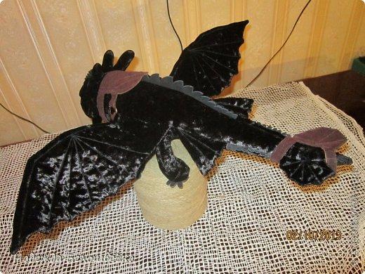 Попросили меня сшить дракона Беззубика для девочки семи лет, дело для меня новое ( игрушки я не шила), пересмотрела в интернете всё, что смогла найти и приступила к делу. фото 5
