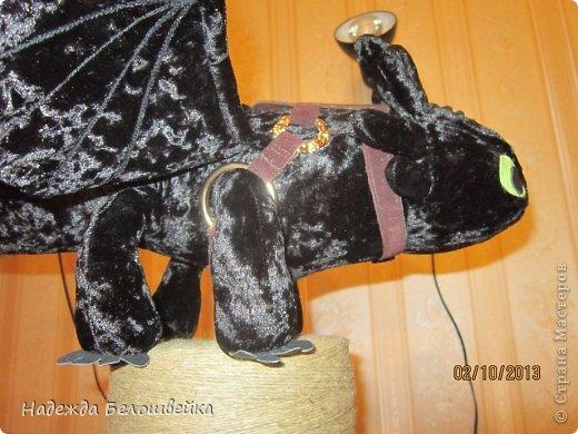 Попросили меня сшить дракона Беззубика для девочки семи лет, дело для меня новое ( игрушки я не шила), пересмотрела в интернете всё, что смогла найти и приступила к делу. фото 9