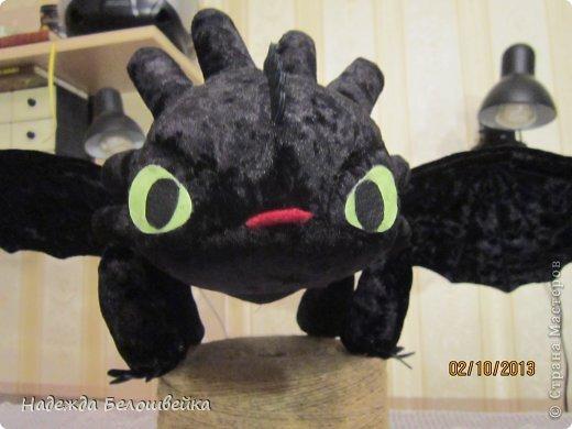 Попросили меня сшить дракона Беззубика для девочки семи лет, дело для меня новое ( игрушки я не шила), пересмотрела в интернете всё, что смогла найти и приступила к делу. фото 12