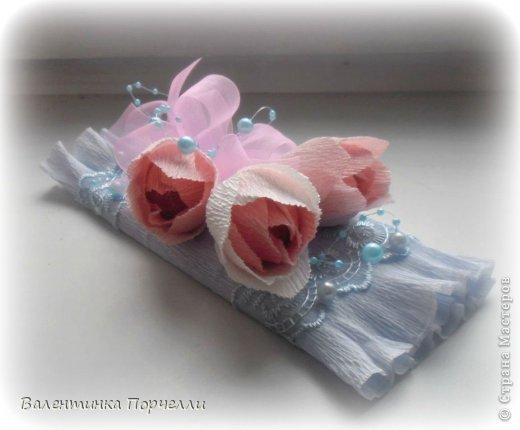 На День Учителя мне моя знакомая заказала оформление коробок  конфет и 4 шоколадок.Коробка конфет в такой цветовой гамме.Мне самой понравилась)))) фото 6