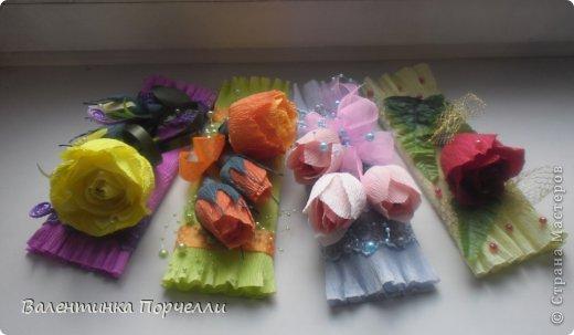 На День Учителя мне моя знакомая заказала оформление коробок  конфет и 4 шоколадок.Коробка конфет в такой цветовой гамме.Мне самой понравилась)))) фото 13
