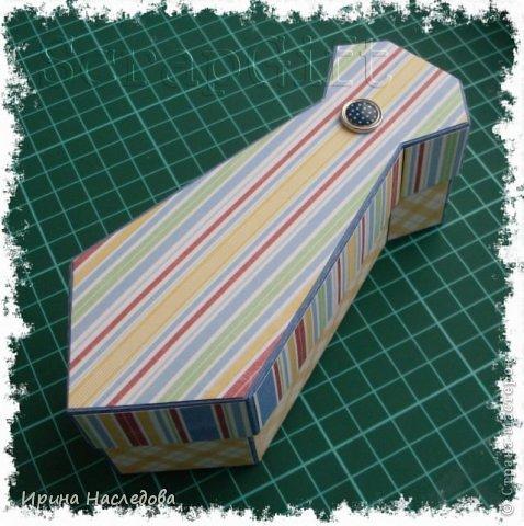 Галстук - коробочка, размер 14,5 х 6 х 5 см. Фото мастер - класс. фото 16