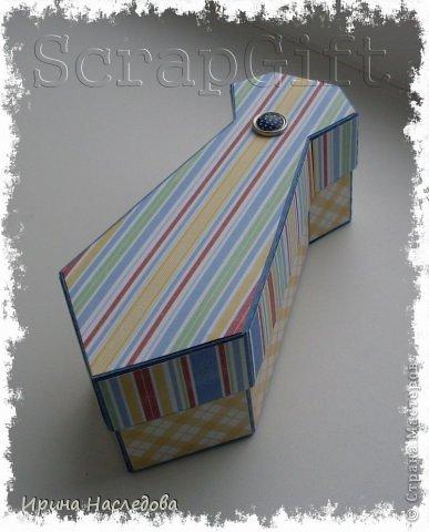 Галстук - коробочка, размер 14,5 х 6 х 5 см. Фото мастер - класс. фото 1