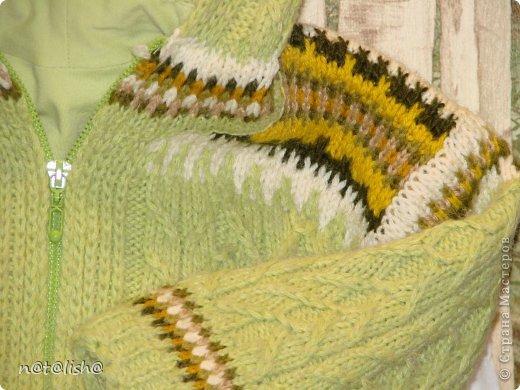 Пуловер связан спицами из 100% шерсти.  фото 6