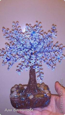 Деревья и цветы из бисера. фото 6