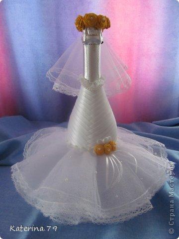 Всем доброго дня! Сегодня хочу показать свои свадебные бутылочки! Это моя первая работа для свадьбы!  фото 2