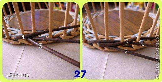 Мастер-класс Поделка изделие Плетение ШКАТУЛКА из газет для новичков МАСТЕР_КЛАСС Бумага газетная Трубочки бумажные фото 31