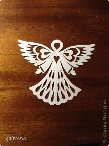 Рождество Вырезание Ангелочки Бумага фото 3