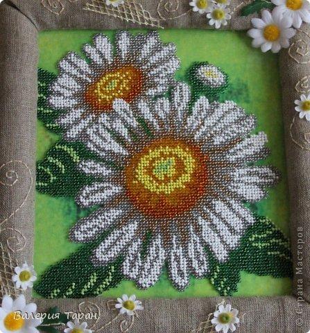 Первый опыт по вышиванию бисером.  Вышивать по канве несложно, а вот придумать и воплотить подходящую рамку...
