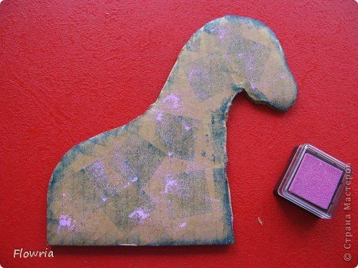 """Приветствую всех! Сегодня я к Вам с очень простеньким МК. Это Лошадка Глафира))) Следующий год - год Синей (или Зеленой) Лошади. Я участвую в конкурсе """"Лошади бывают разные"""" http://stranamasterov.ru/node/612099 фото 7"""