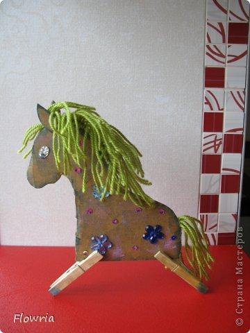"""Приветствую всех! Сегодня я к Вам с очень простеньким МК. Это Лошадка Глафира))) Следующий год - год Синей (или Зеленой) Лошади. Я участвую в конкурсе """"Лошади бывают разные"""" http://stranamasterov.ru/node/612099 фото 23"""