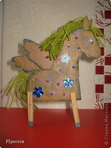 """Приветствую всех! Сегодня я к Вам с очень простеньким МК. Это Лошадка Глафира))) Следующий год - год Синей (или Зеленой) Лошади. Я участвую в конкурсе """"Лошади бывают разные"""" http://stranamasterov.ru/node/612099 фото 24"""