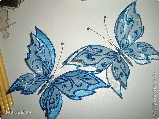 Мастер-класс Поделка изделие Моделирование конструирование Роспись Бабочки Мой мастер клас Ткань фото 8