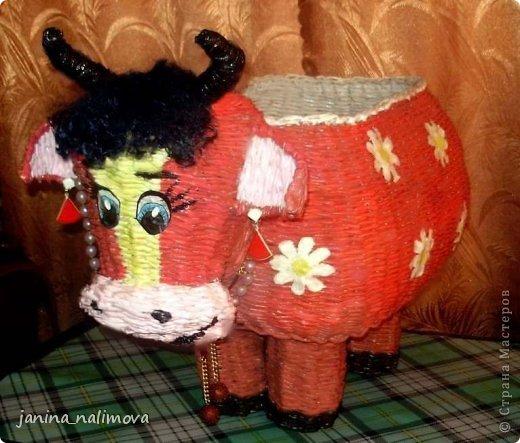 Мастер-класс Поделка изделие Плетение Плетённый короб для игрушек Корова Трубочки бумажные фото 1