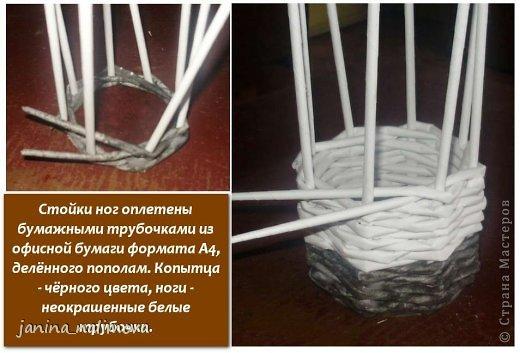 Мастер-класс Поделка изделие Плетение Плетённый короб для игрушек Корова Трубочки бумажные фото 3