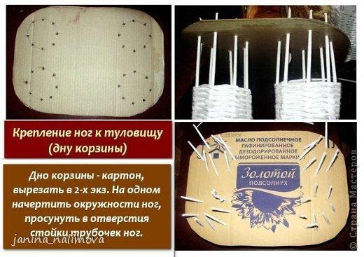 Мастер-класс Поделка изделие Плетение Плетённый короб для игрушек Корова Трубочки бумажные фото 4