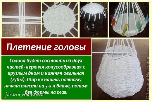Мастер-класс Поделка изделие Плетение Плетённый короб для игрушек Корова Трубочки бумажные фото 9