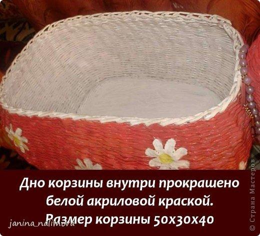 Мастер-класс Поделка изделие Плетение Плетённый короб для игрушек Корова Трубочки бумажные фото 16