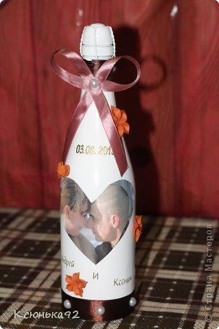 Декор предметов Свадьба Декупаж Лепка Маленький фото-отчет моей свадьбы Бисер Бусинки Глина Ленты фото 2.