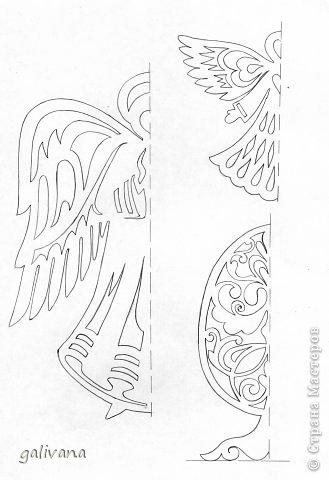 Рождество Вырезание Ангелочки Бумага фото 1