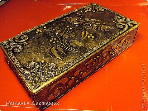 Декор предметов Шкатулка с птичкой Картон гофрированный Материал бросовый фото 1