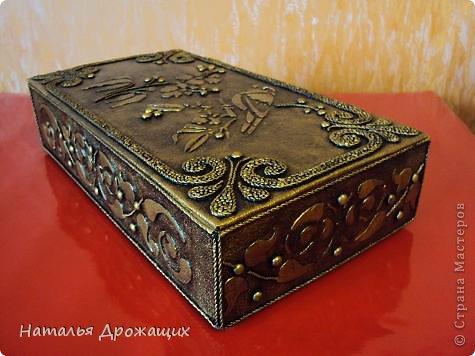 Декор предметов Шкатулка с птичкой Картон гофрированный Материал бросовый фото 3