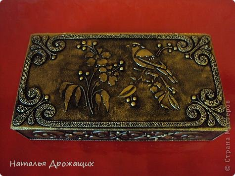 Декор предметов Шкатулка с птичкой Картон гофрированный Материал бросовый фото 7