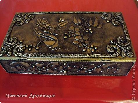 Декор предметов Шкатулка с птичкой Картон гофрированный Материал бросовый фото 10