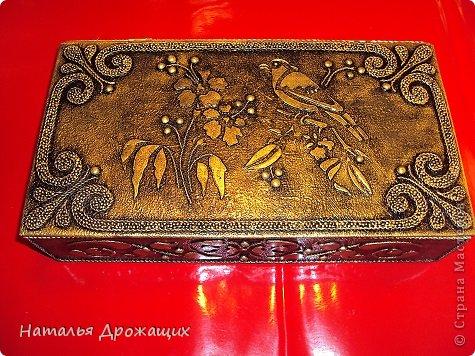 Декор предметов Шкатулка с птичкой Картон гофрированный Материал бросовый фото 11