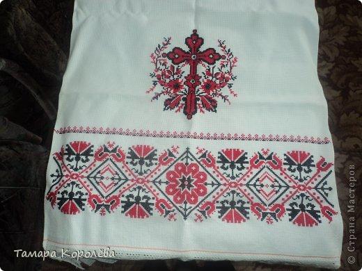 Полотенце на пасху з бисера