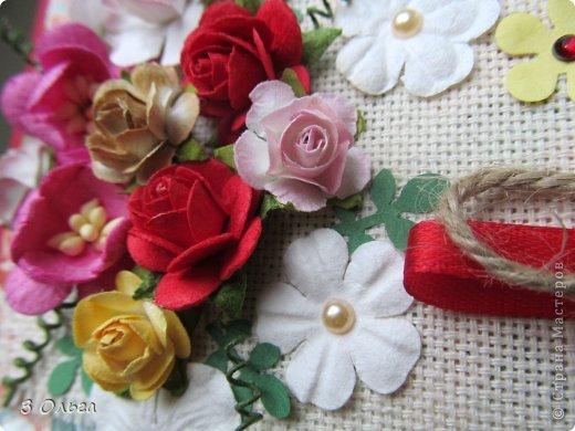 Всем доброго времени суток! Я опять натворила :-) Смотрите и оценивайте!  Эту открытку прислала заказчица и попросила сделать подобную. Автора, к сожалению, я не знаю, поэтому, если узнаете в ней свою, напишите мне и я обязательно дам на Вас ссылку! :-) Надписи Марины Абрамовой http://marina-abramova.blogspot.ru/ фото 2