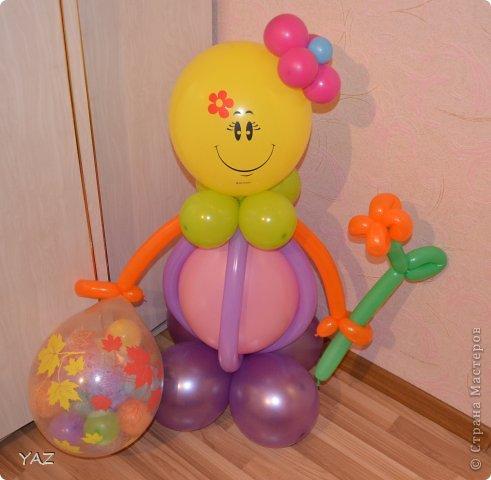 06 октября у меня было День Рождения и мама с папой подарили мне вот такую девочку из воздушных шариков фото 1