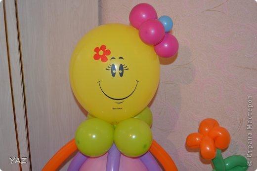 06 октября у меня было День Рождения и мама с папой подарили мне вот такую девочку из воздушных шариков фото 3