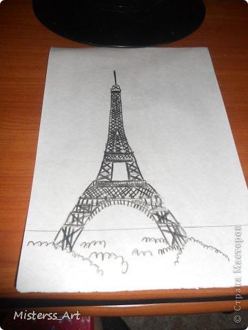 Вся в Парижских эмоциях,нарисовала...Подводила акв.карандашами фото 2