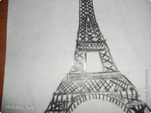 Вся в Парижских эмоциях,нарисовала...Подводила акв.карандашами фото 3
