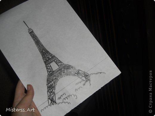 Вся в Парижских эмоциях,нарисовала...Подводила акв.карандашами фото 1