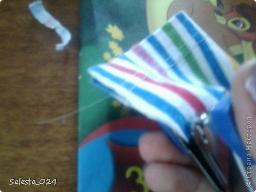 Отрезаем кусочек ткани нужной длинны и ширины. фото 2
