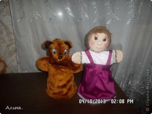 Доброго времени суток СМ! Вот таких кукол я сделала для кукольного театра... Это Маша и Медведь. фото 1