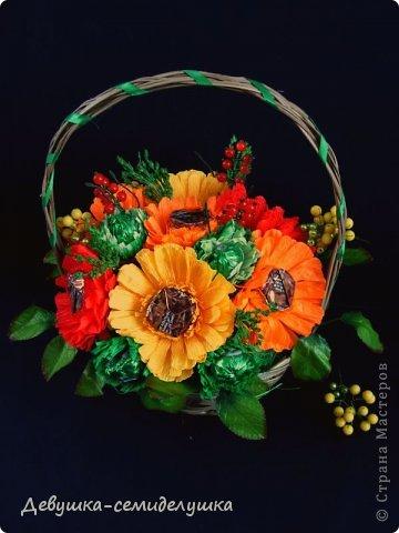 """Букет из конфет """"Осенний вальс"""" фото 2"""